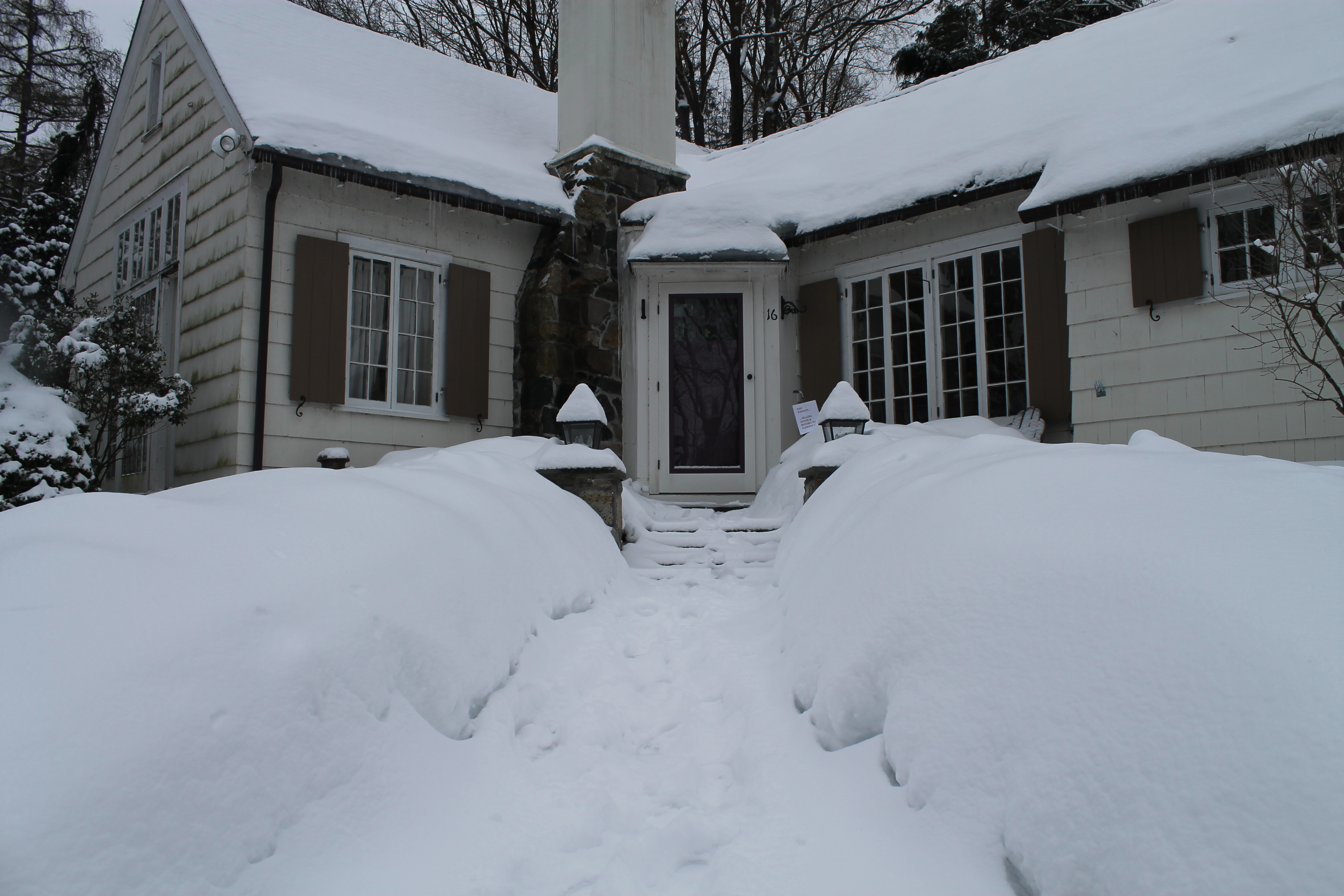 House Snow Front House Snow